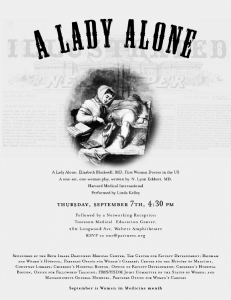 A Lady Alone flyer