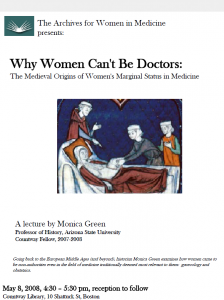 """Why Women Can't Be Doctors"" flyer"