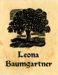 Bookplate of Leona Baumgartner