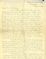 First Page of Letter