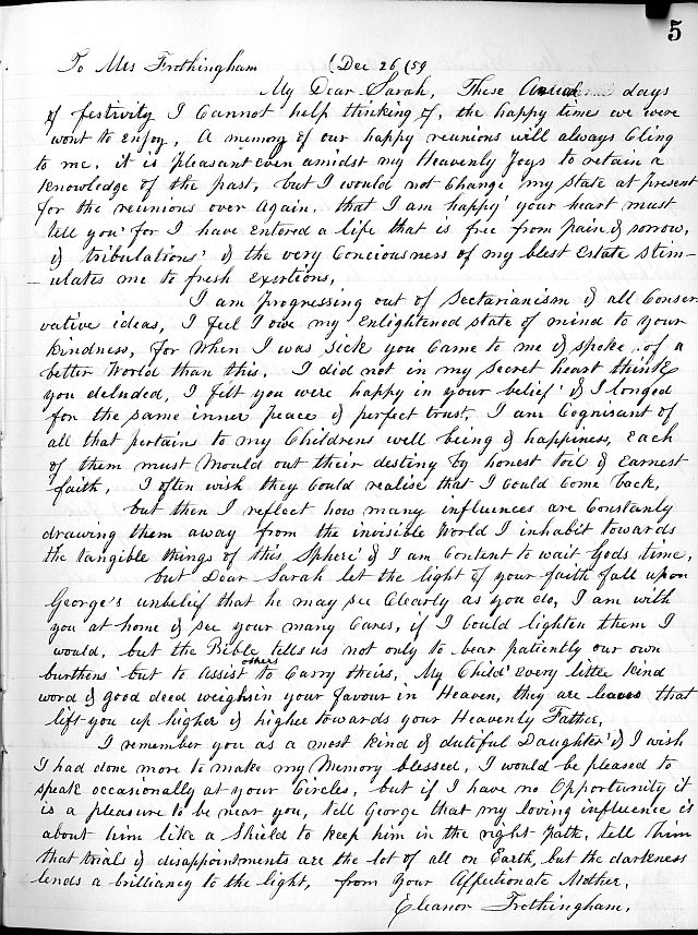 letter for eleanor essay Eleanor roosevelt on democracy and citizenship  letter eleanor roosevelt  and in their ctgs to begin writing a short essay in response to what.