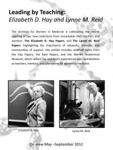 Hay-Reid exhibit poster