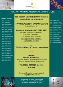 Garland lecture flyer