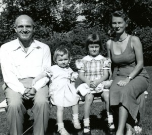 Murray with wife Virginia and children