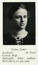 Linda James, 1914