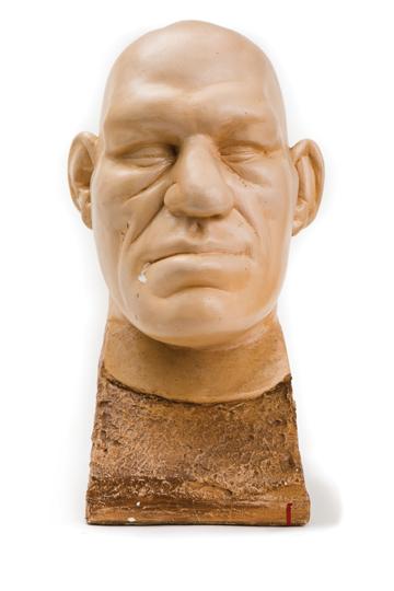 Death mask taken of Maurice Tillet, Warren Anatomical Museum at the Francis A. Countway Library of Medicine, Gift of Rosanna Meunier Leonard, Patrick J. Leonard, Sr., Patrick J. Leonard, Jr., and Mary K. Leonard of Braintree, Massachusetts, WAM 20149