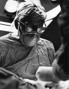 Francis D. Moore MD, in surgery at the Peter Bent Brigham Hospit