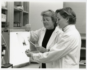 Doctor Priscilla A. Schaffer (left) and associate.