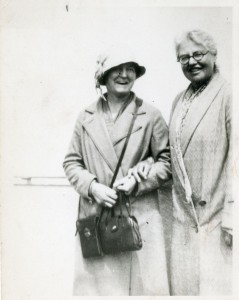 Marian C. Cabot (left) with companion.