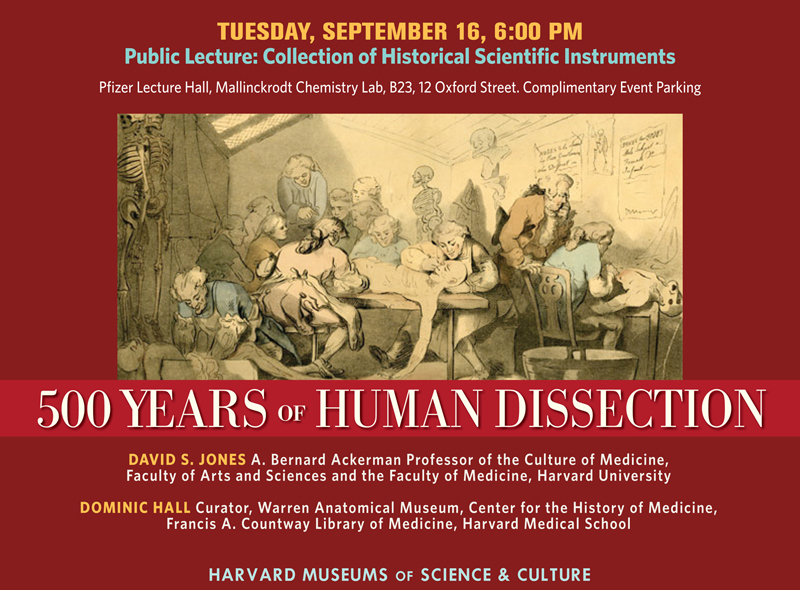 September 16 500 Years Of Human Dissection