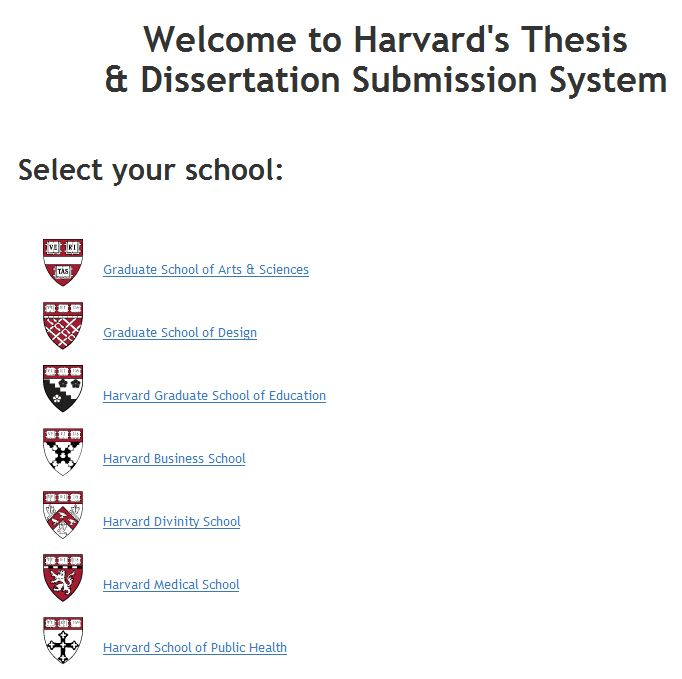 Harvard form phd dissertation