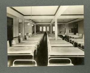 Picture of a model hospital ward from the L. Vernon Briggs Papers.
