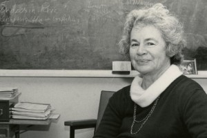 Rose E. Frisch, seen in the early 1980s, spent decades at the Harvard Center for Population and Development Studies. Image courtesy of the New York Times.