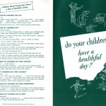 "Outside pages of ""Do Your Children Have a Healthful Day?"" pamphlet, published by the National Dairy Council."