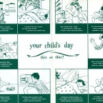 "Inside pages of ""Do Your Children Have a Healthful Day?"" pamphlet, 1959, published by the National Dairy Council."