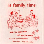 "Cover of ""Mealtime is Family Time"" booklet, 1961, published by the National Dairy Council."