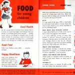 "Outside pages of ""Food for Young Children"" brochure, 1966, published by the National Dairy Council."