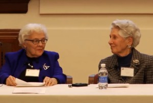 "Eleanor Shore and Amalie Kass speaking at ""Celebrating 10 Years of the Archives for Women in Medicine"""