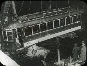 Aftermath of the Summer Street Bridge Disaster, 1916