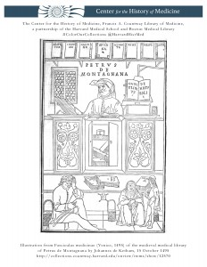 Illustration from Fasciculus medicinae (Venice, 1495) of the medieval medical library of Petrus de Montagnana by Johannes de Ketham, 15 October 1495