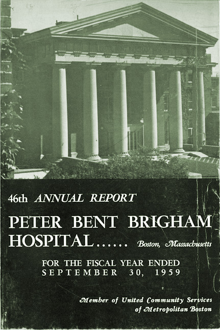 46th Annual Report of the Peter Bent Brigham Hospital, 1959. Cover.
