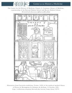 Illustration from Fasciculus medicinae (Venice, 1495) of the medieval medical library of Petrus de Montagnana by Johannes de Ketham, 15 October 1495.