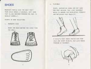 """""""What Parents Should Know about Shoes, Twisted or Bent Legs, and Flatfeet in Children"""" pamphlet, 1979, published by the Department of Orthopedics, The Children's Orthopedic Hospital and Medical Center, Seattle, WA. H MS c477."""