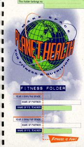 Fitness Folder, from the Harvard Prevention Research Center's Planet Health Curriculum.