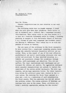 White to Nixon, Page 1