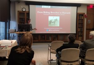 "Heather Mumford, Archivist for the Harvard Chan School, presented on her 2013 ""discovery"" of Linda James, the first woman to graduate from the Harvard-MIT School for Health Officers."