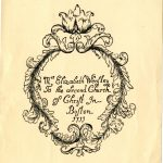 """Mrs Elizabeth Wensley to the Second Church of Christ in Boston 1733"""