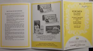 Trifold brochure for the Koromex diaphragm dated 1979