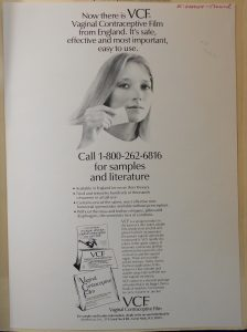 Advertisement for VCF spermicide from the late 1970s